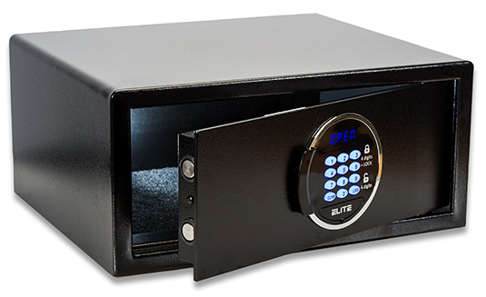 ELITE-Laptop-Safe-Black-open-3d